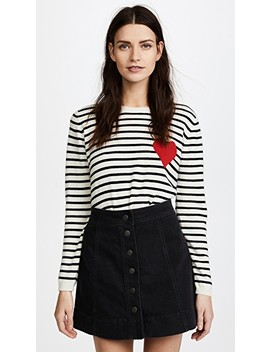 Breton Heart Cashmere Sweater by Chinti And Parker