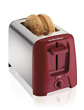 Hamilton Beach Cool Wall 2 Slice Toaster, Red (22623) by Hamilton Beach
