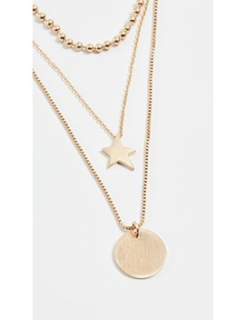 Medallion Layered Delicate Necklace by Rebecca Minkoff