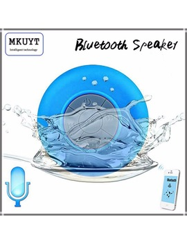 Free Shipping Mini Portable Subwoofer Shower Waterproof Wireless Bluetooth Speaker Car Handsfree Receive Call Music Suction Mic by Mkuyt Electronic Store