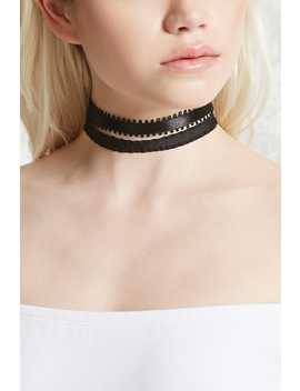Ribbon Choker Set by Forever 21