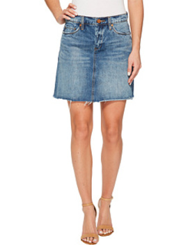 Denim A Line Mini Skirt In Way Back When by Blank Nyc