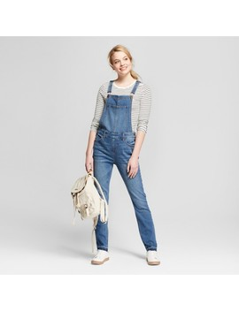 Women's Skinny Release Hem Overalls   Mossimo Supply Co.™ Dark Wash by Mossimo Supply Co.