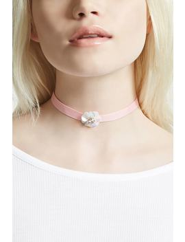 Floral Ribbon Choker by Forever 21