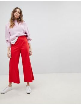 Max&Co Wide Leg Cropped Pants by Max&Co