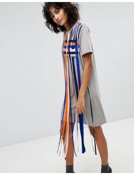 2 Ndday Mayra Striped Tassle T Shirt Dress by 2nd Day