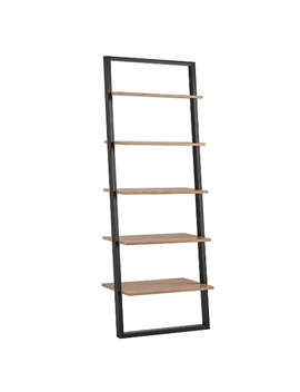 "Aaric Leaning Ladder Bookcase   Black And Natural 73.6""   Inspire Q by Inspire Q"