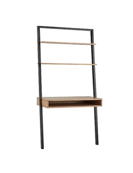 Aaric Leaning Ladder Desk   Black And Natural   Inspire Q by Inspire Q