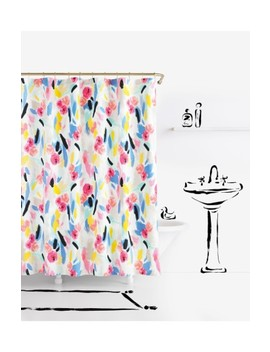 Paintball Floral Shower Curtain by Kate Spade New York