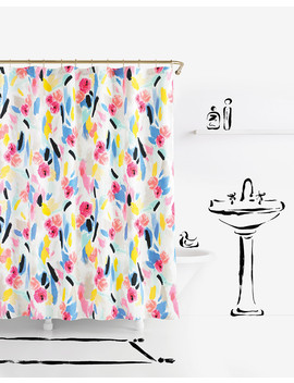 Paintball Floral Shower Curtain by Kate Spade