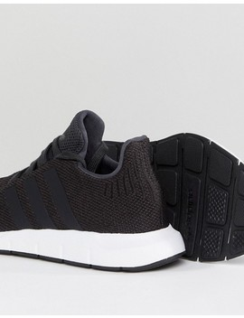 Adidas Originals Swift Run Sneakers In Black by Adidas