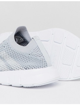 Adidas Originals Swift Run Primeknit Sneakers In Grey by Adidas