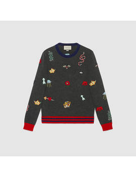 Wool Sweater With Embroideries by Gucci