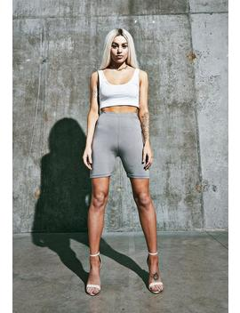 Gray Cycling Shorts by Missguided