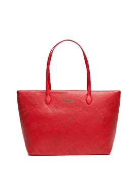 Logo Embossed Tote Bag by Love Moschino