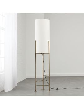 Haus White Floor Lamp by Crate&Barrel