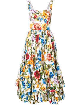 Floral Print Full Dress by Dolce & Gabbana