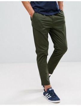 Only & Sons Cropped Chino In Tapered Fit by Only & Sons