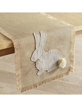 Burlap Bunny Tail Table Runners by Pier1 Imports