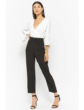 Colorblock Surplice Jumpsuit by Forever 21
