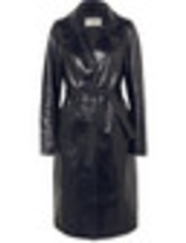 Patent Leather Coat by Yves Salomon