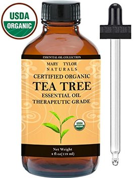 Organic Tea Tree Oil, Large 4 Oz Usda Certified Organic, 100 Percents Pure Essential Oil, Therapeutic Grade, Melaleuca Alternifolia By Mary Tylor Naturals by Mary Tylor Naturals