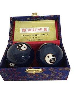 Baoding Balls Chinese Health Massage Exercise Stress Balls  Blue Yin Yang #3 by Thy Arts