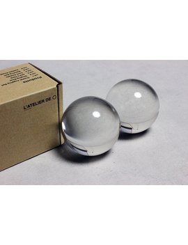 Crystal Baoding Juggling Ball   L'atelier De O (50mm2pc, Original Clear) by L'atelier De ○