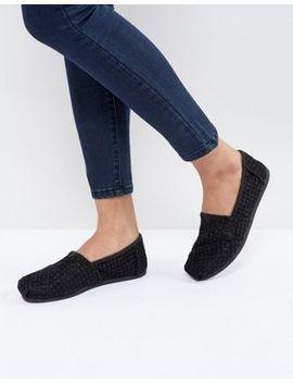 Toms Black Crochet Lace Shoes by Toms