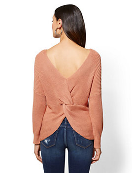 Twist Back Sweater by New York & Company