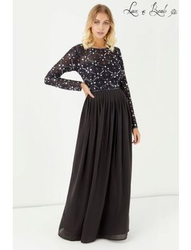 Lace & Beads Backless Embellished Maxi Dress by Next