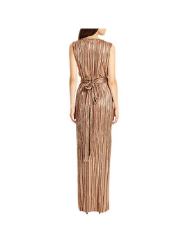 Phase Eight Metallic Anthea Pleat Dress, Copper by Phase Eight