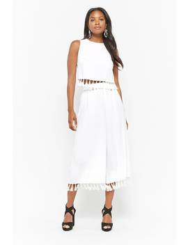 Tassel Wide Leg Pants by Forever 21