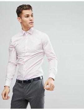 Calvin Klein Skinny Shirt In Pink by Calvin Klein