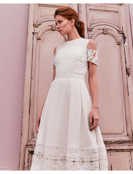 Structured Lace Midi Dress by Ted Baker