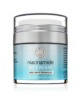 5 Percents Niacinamide / Vitamin B3 Cream Serum. Anti Aging For Face & Neck. Large 1.7oz. Use Morning & Night. Firms & Renews Skin. Tightens Pores, Reduces... by Luminositie