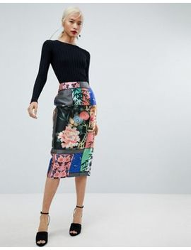 Asos – Bleistiftrock Mit Zartem Blumenmuster by Asos Collection