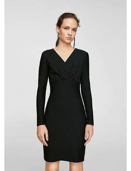 Φόρεμα ριγέ by Mango