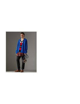 Reissued Striped Wool Cardigan by Burberry
