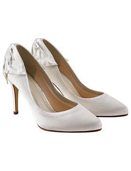 Rainbow Club Lillie Bow Stiletto Heeled Court Shoes, Ivory by Rainbow Club