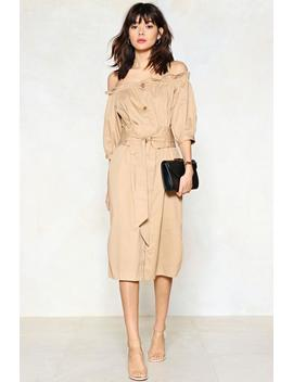 Button The Move Midi Dress by Nasty Gal