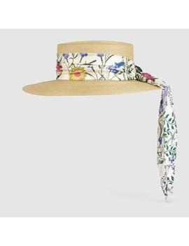 Cappello In Paglia Con Nastro New Flora by Gucci