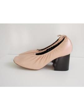 Auth Nib $770 Celine By Phoebe Philo Powder Pink Nude Ballerina Pumps 70mm Sz 40 by Celine