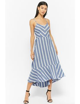 Striped Cami Cutout Dress by Forever 21