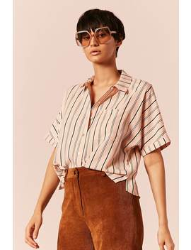 Stripe Button Front Top by F21 Contemporary
