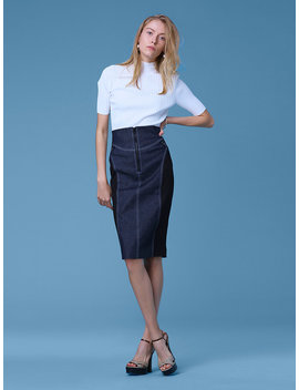 "Zip Front Jean Skirt<Button Class=""Price It Clicked Process"" Id=""Pricebtn"" Style=""Display: None;""></Button> by Dvf"