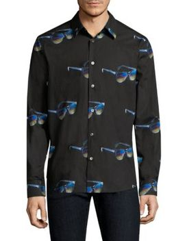 Sunglasses Print Cotton Shirt by Paul Smith