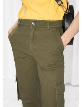 High Waisted Cargo Trousers by & Other Stories