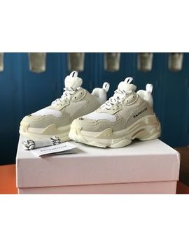 Balenciaga Triple S White Cream Women's 5.5 by Balenciaga