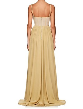 Self Knotted Silk Georgette Gown by Derek Lam